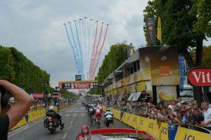 Champs Elysees during the Tour de France