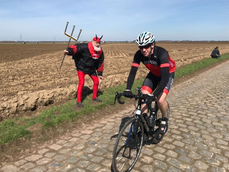 diablo devil supporter roubaix cycling trip