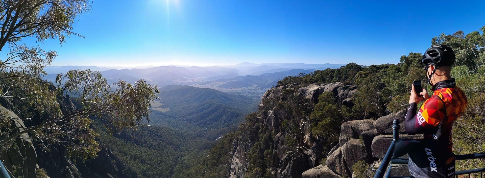 7 peaks mount buffalo panorama