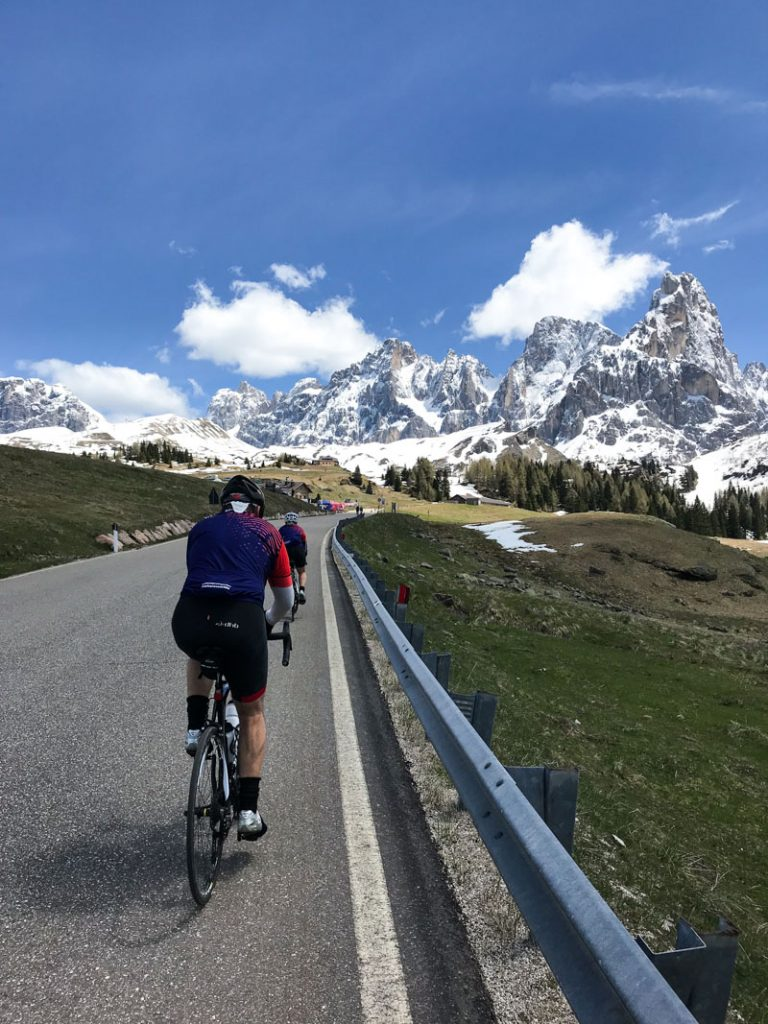 giro italia trip guests riding dolomites