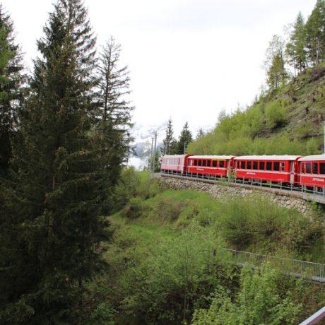 Bernina Express to St Moritz
