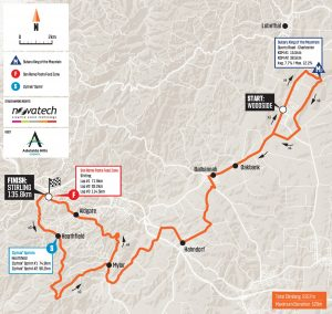 2020 tour down under stage 2 map