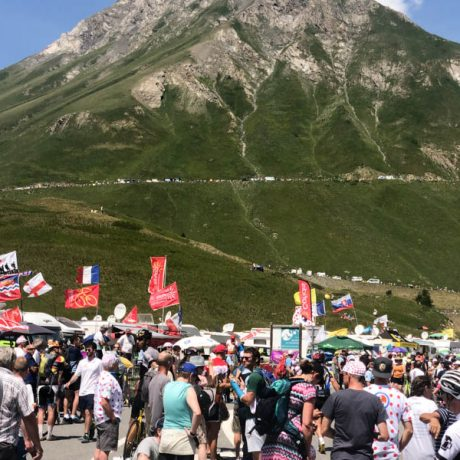 Race day on Col du Galibier Tour de France