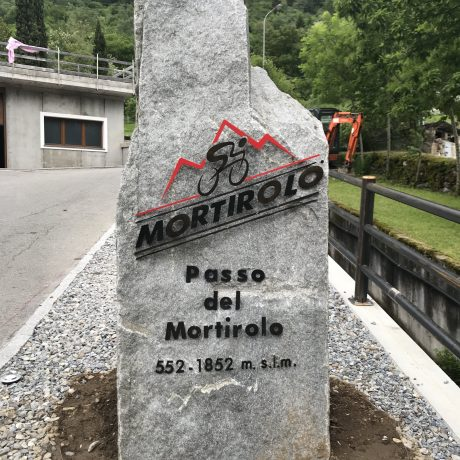 Monument for Mortirolo Cima Pantani