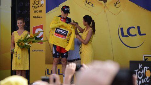 yellow jersey presentation tour de france