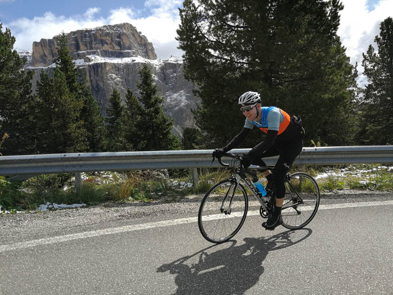 italy bike tour pordoi pass sella ronda