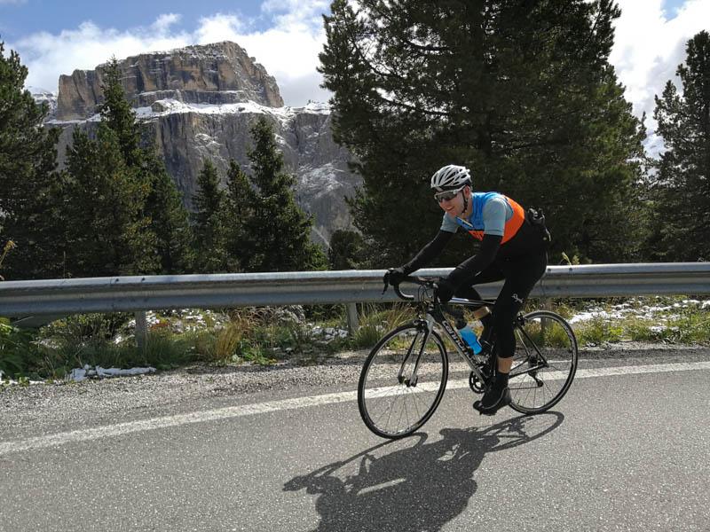 italy bike tour pordoi pass sella ronda