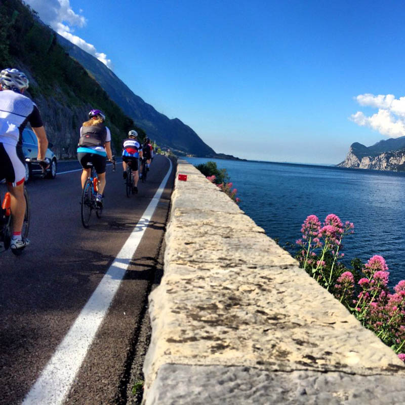 italy bike tour lake garda ride
