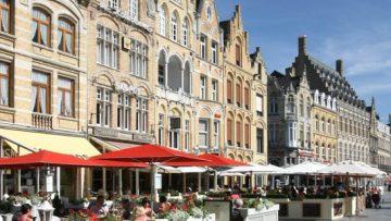 Belgium town centre ieper Grote markt