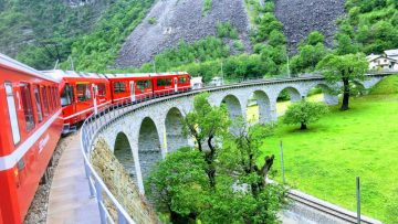 touristic opportunities like the bernina express