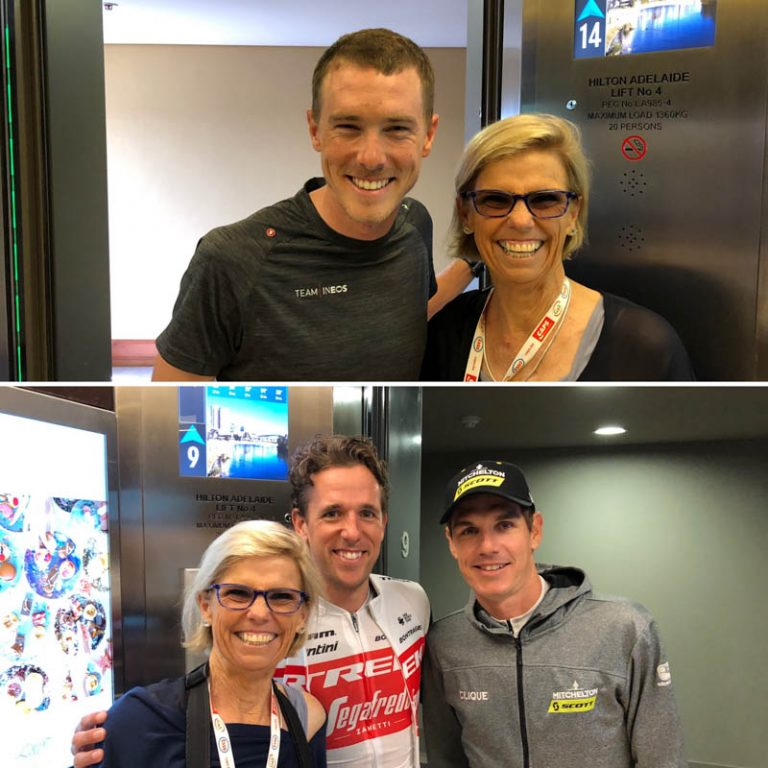 Bikestyle Tours Guest with cycling stars at Adelaide Hilton