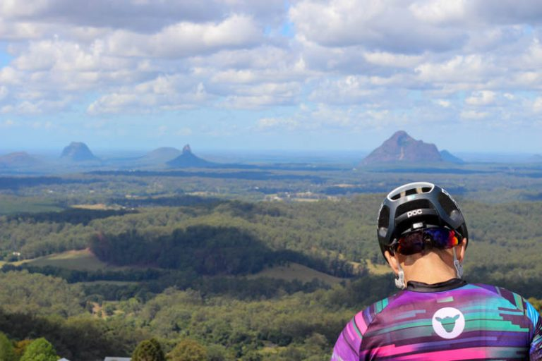 Glasshouse Mountains from Maleny