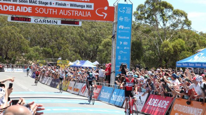 Richie Porte Stage Finish Willunga Hill