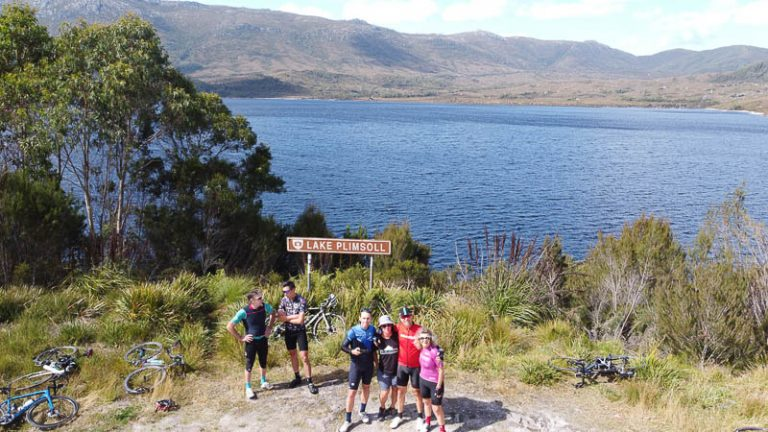 Small cycling group tasmania wilderness