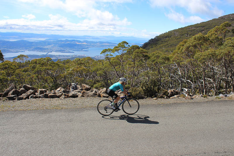 Cycling to Mount Wellington Summit